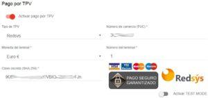 Configurar formas de pago
